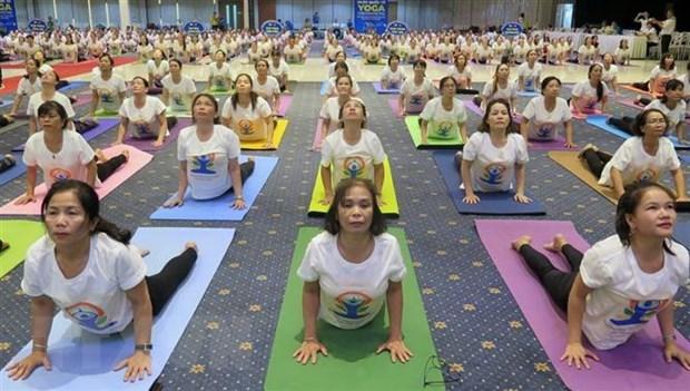 2020年第六届国际瑜伽日活动在富安省举行 hinh anh 2