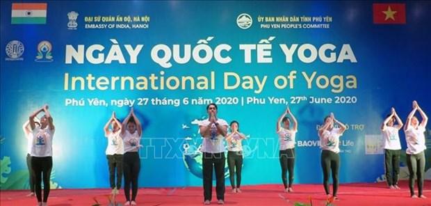 2020年第六届国际瑜伽日活动在富安省举行 hinh anh 3