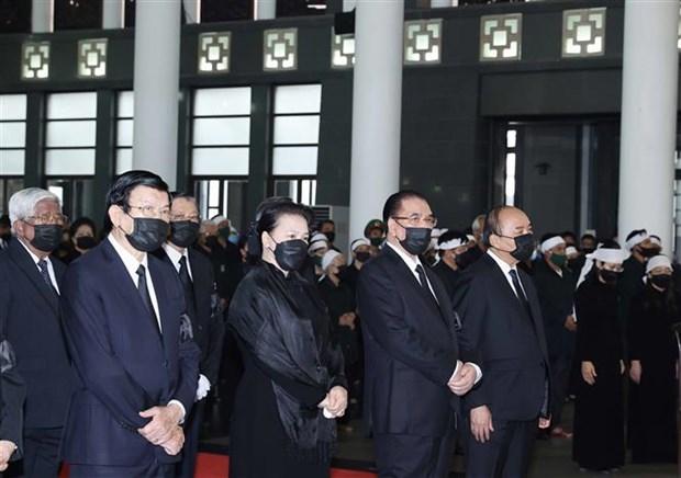 原越共中央总书记黎可漂追悼会和安葬仪式举行 hinh anh 1