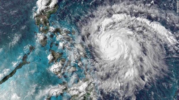 """台风""""莫拉菲""""将登陆吕宋岛南部 近1800菲律宾人被紧急疏散 hinh anh 1"""