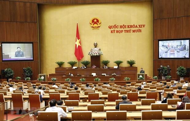 越南第十四届国会第十次会议新闻公报(第五号) hinh anh 1