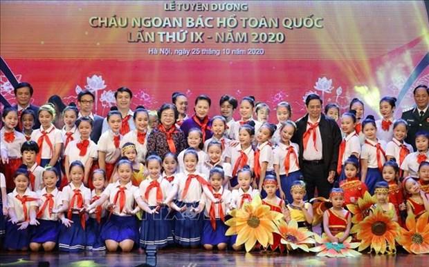 越南国会主席阮氏金银出席第九届全国胡伯伯好孩子表彰大会 hinh anh 1