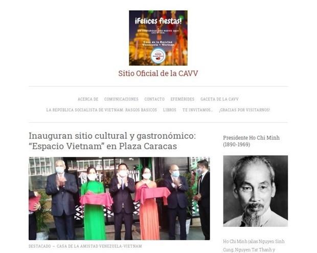 委内瑞拉-越南友好协会信息门户网站正式上线运行 hinh anh 1