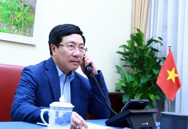 政府副总理兼外交部长范平明与美国国务卿蓬佩奥通电话 hinh anh 1