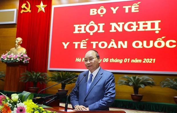阮春福总理:卫生部要制定贴近越共十三大决议目标的具体行动计划 hinh anh 1