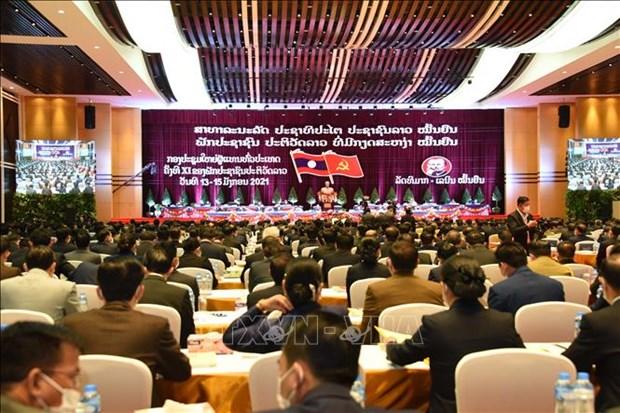 老挝人民革命党第十一次全国代表大会隆重开幕 hinh anh 1