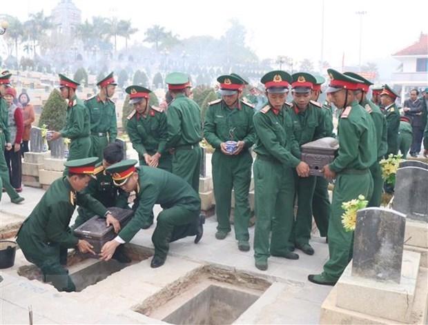奠边省为老牺牲的越南志愿军烈士举行追悼会 hinh anh 1
