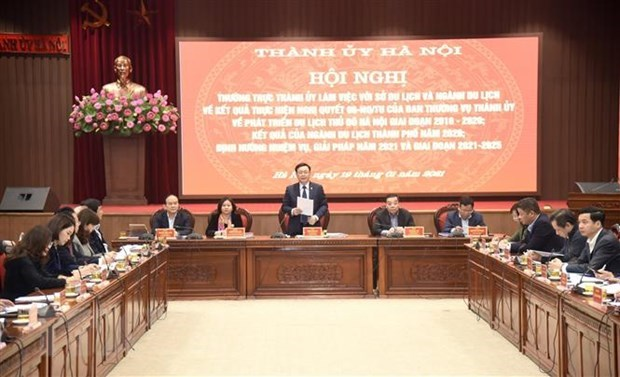 河内市委书记王廷惠要求制定2021年旅游复苏和发展计划 hinh anh 1