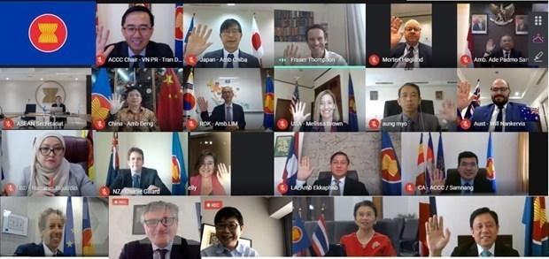 东盟互联互通协调委员会高度评价越南的贡献 hinh anh 1