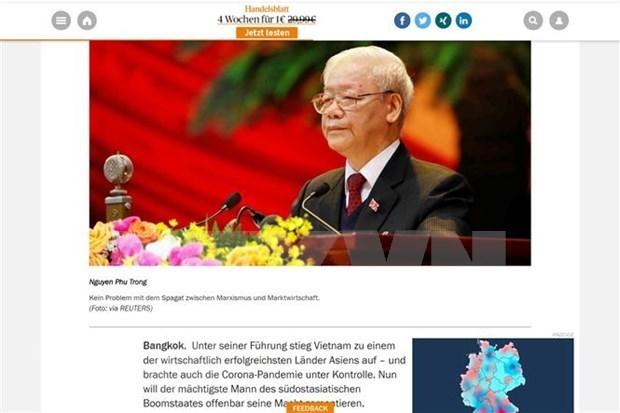 越共十三大:德国媒体突出了越南经济发展展望 hinh anh 1