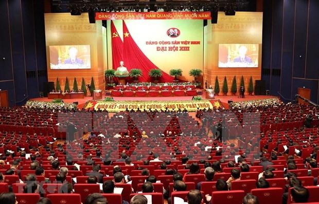 越共十三大:向越南党、国家和人民传达团结、友好与合作的愿景 hinh anh 1