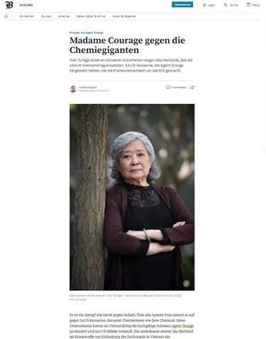 国际媒体深度报道橙剂受害者陈素娥女士的正义斗争 hinh anh 3
