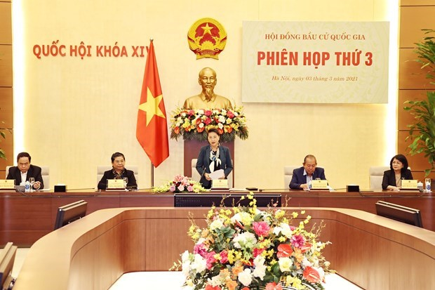 越南国会主席阮氏金银主持国家选举委员会第三次会议 hinh anh 1