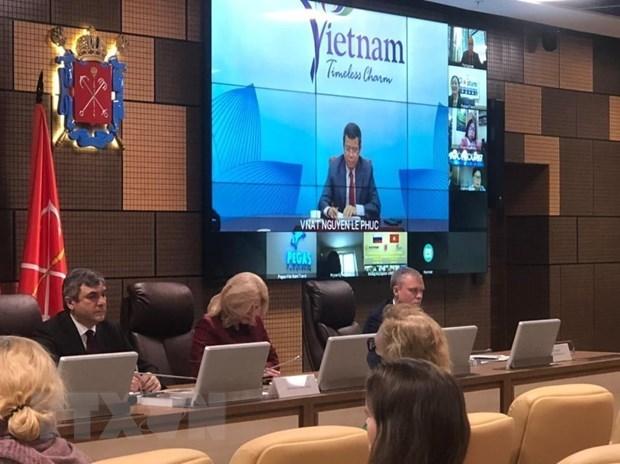 第二次圣彼德堡与越南国际旅游论坛以视频方式举行 hinh anh 1