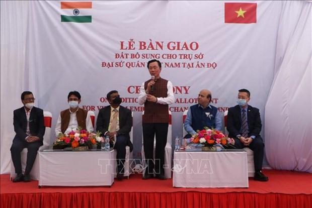 新德里向越南驻印度大使馆移交300平方米额外使馆用地 hinh anh 1
