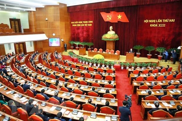 越共第十三届中央委员会第二次全体会议公报 hinh anh 1