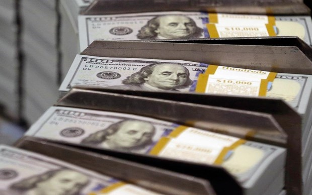 今日越盾对美元汇率中间价小幅下降 hinh anh 1