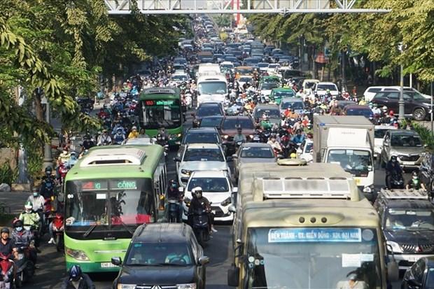胡志明市建设穿越市中心的两条架空道路 hinh anh 1