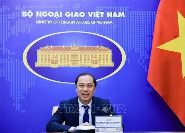 越南外交部副部长阮国勇与德国联邦外交部国务部长举行会谈 hinh anh 1