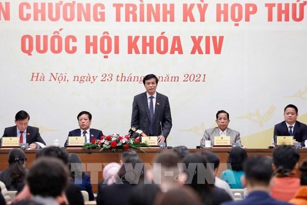 越南第十四届国会第十一次会议讨论确定国家主要领导 hinh anh 1