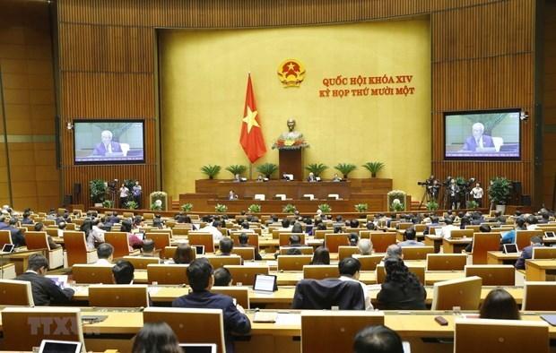 第十四届越南国会第十一次会议新闻公报(第四号) hinh anh 1