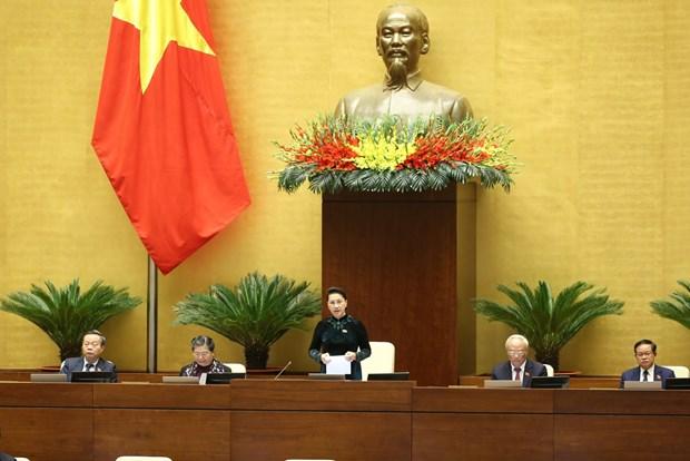 越南第十四届国会第十一次会议:提请国会免去国会主席和国家选举委员会主席的职务 hinh anh 1