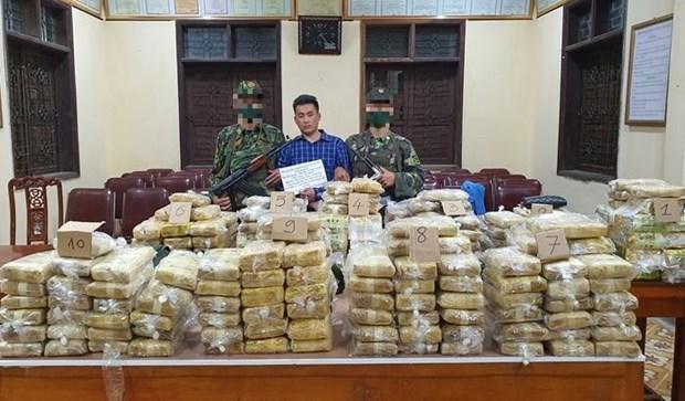 越南破获一起特大跨境毒品案 缴获各类毒品近350公斤 hinh anh 1