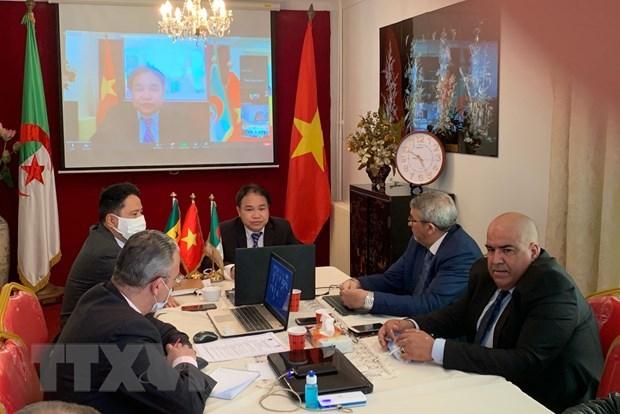 200余家企业出席2021年越南-阿尔及利亚-塞内加尔贸易投资合作促进会 hinh anh 1