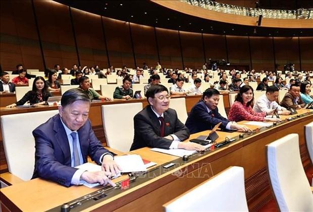 越南第十四届国会第十一次会议:选举国会副主席和国会常务委员会部分委员 hinh anh 1