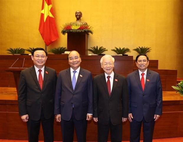 外国领导人发来贺电 祝贺越南新一届领导人 hinh anh 1