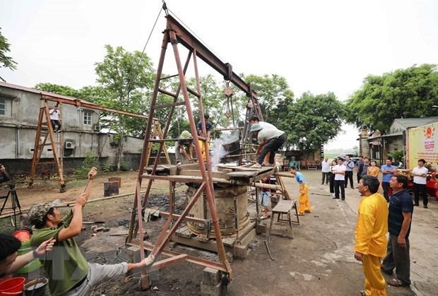 """""""江山豪气""""点火铸造铜鼓仪式在清化省举行 hinh anh 2"""
