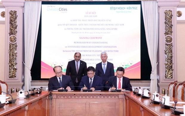 胡志明市与新加坡在城市规划发展方面建立合作关系 hinh anh 2