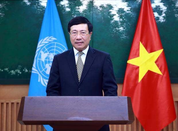 范平明副总理在联合国亚太经社会第77届年会上通过视频发表讲话 hinh anh 1