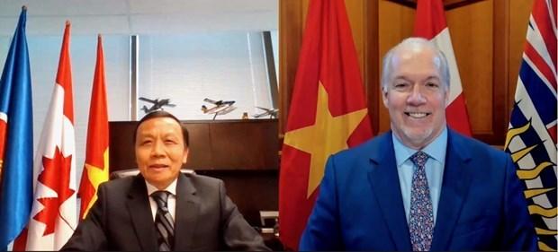 巩固越南与加拿大不列颠哥伦比亚省之间的实质性关系 hinh anh 1