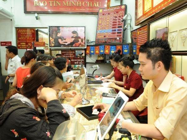 5月11日上午越南国内市场黄金价格上调5万越盾 hinh anh 1