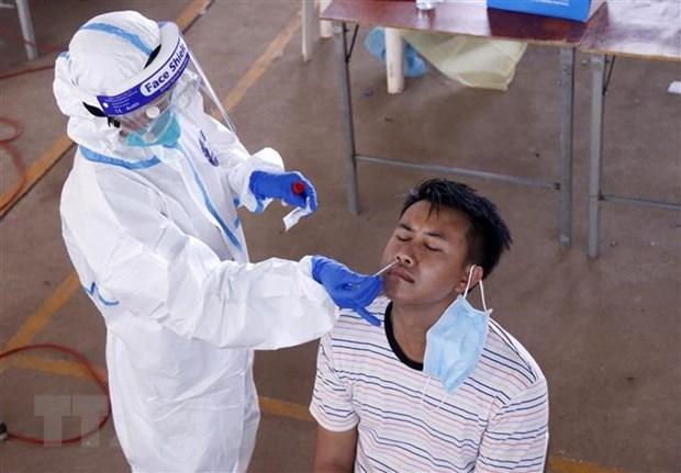 新冠肺炎疫情:老挝和柬埔寨单日新增确诊病例呈下降态势 hinh anh 1