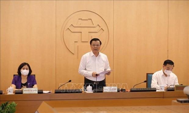 河内市委书记丁进勇:若发生疫情蔓延情况,领导要受处分 hinh anh 1