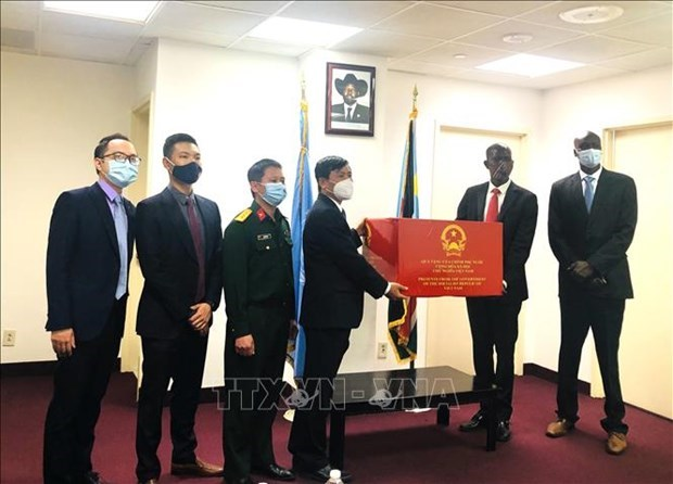 越南向南苏丹捐赠防疫医疗物资 hinh anh 1