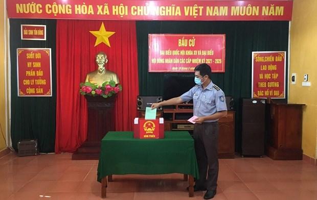 国会和人民议会换届选举:全国共有16各省市有提前举行投票的地区 hinh anh 1