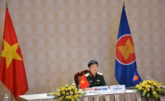 东盟地区论坛国防官员对话会以视频方式召开 hinh anh 1