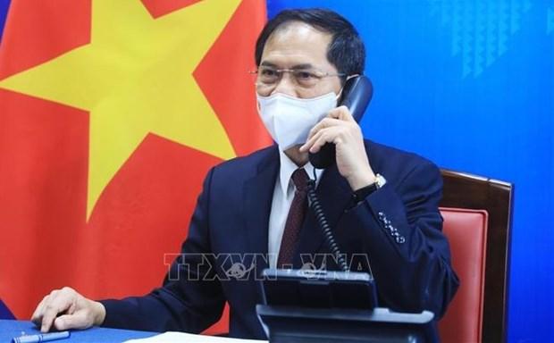 越南外交部长裴青山与美国国务卿布林肯通电话 hinh anh 1