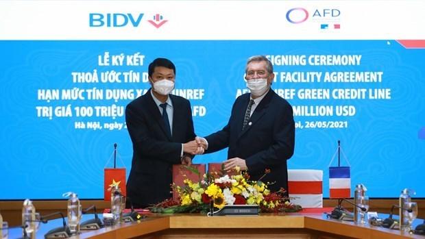 BIDV获得1亿美元的额度以资助绿色能源行业 hinh anh 1