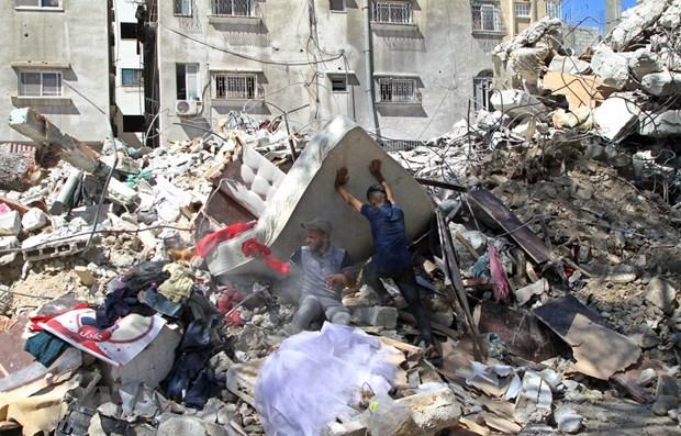 造访慰问遭受以色列-巴勒斯坦战事影响的越南研修生 hinh anh 1
