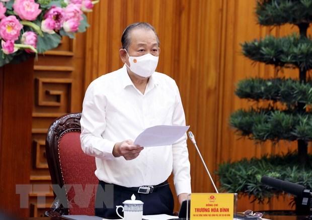 越南政府副总理张和平:严格依法做好2021年特赦实施工作 确保疫情防控要求 hinh anh 1