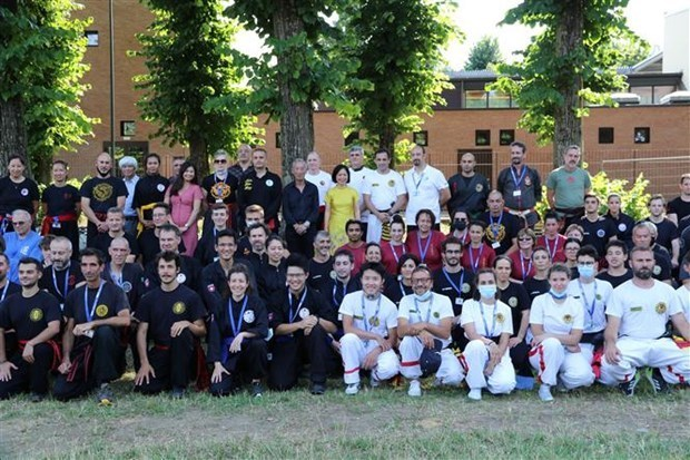 在意大利越南传统武术协会正式成立 hinh anh 1