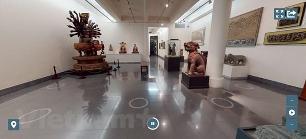 越南美术馆推出线上3D游览技术 hinh anh 1