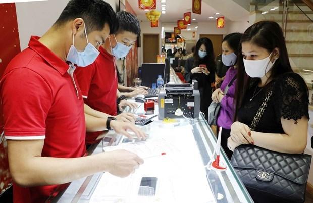 8月31日上午越南国内黄金价格持续上涨 hinh anh 1