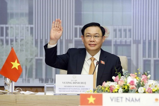 越南国会主席王廷惠与泰国国会主席举行视频会谈 hinh anh 1