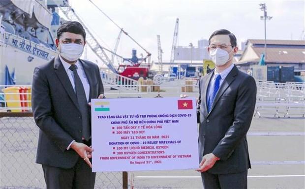 越南接收由印度政府捐赠的一批医疗设备 hinh anh 1