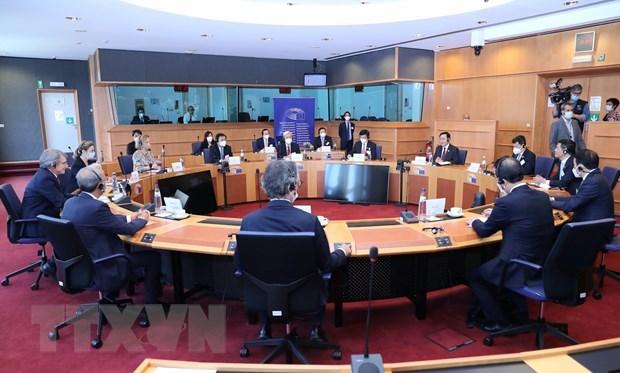 越南国会主席王廷惠与欧洲议会主席举行会谈 hinh anh 2